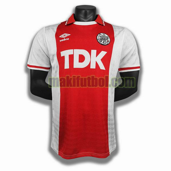 camisetas ajax 1990 primera player rojo