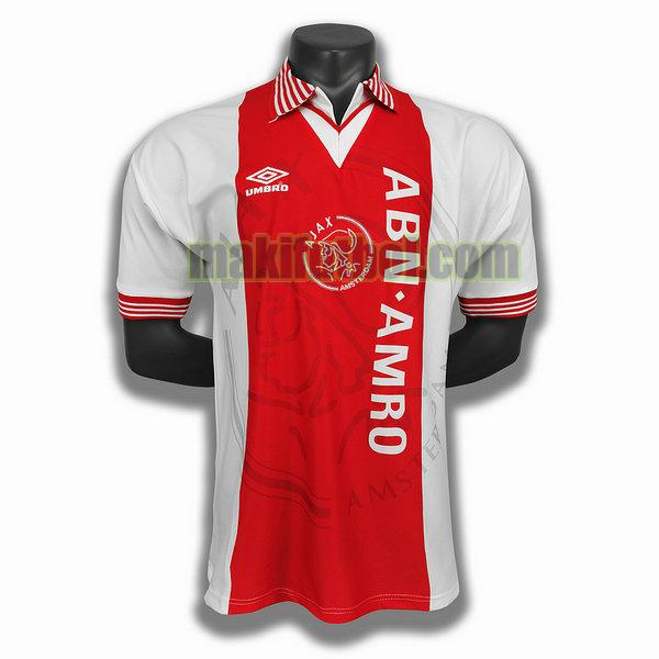 camisetas ajax 1994 95 primera player rojo