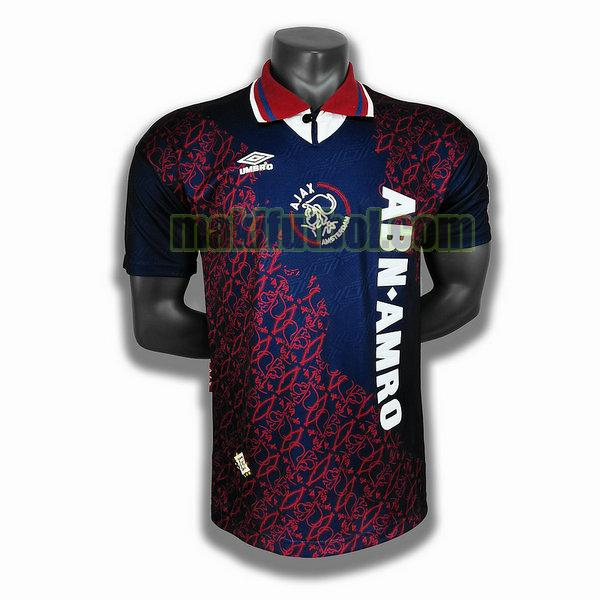 camisetas ajax 1995 segunda player azul