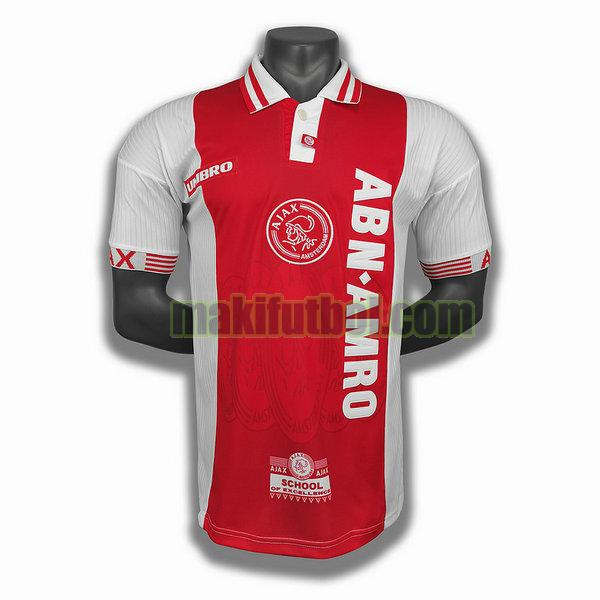 camisetas ajax 1997 98 primera player rojo