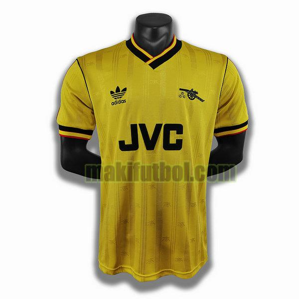 camisetas arsenal 1986 1988 segunda player amarillo