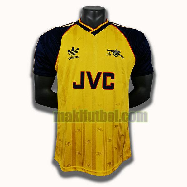 camisetas arsenal 1988 1990 segunda player amarillo