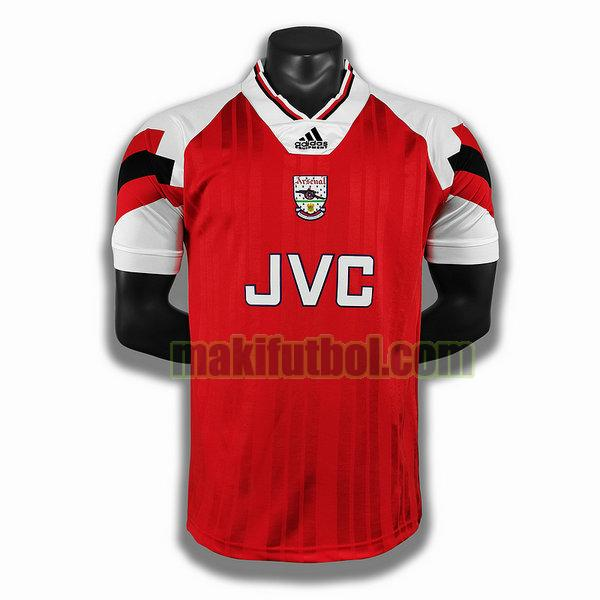 camisetas arsenal 1992 1993 primera player rojo