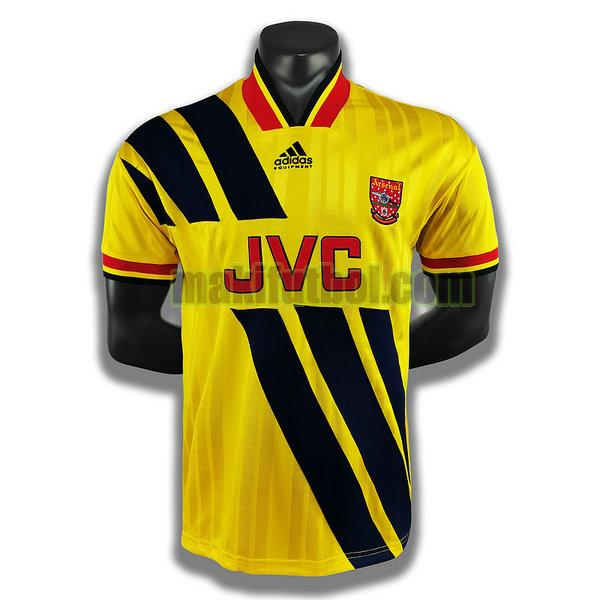 camisetas arsenal 1993 1994 segunda player amarillo