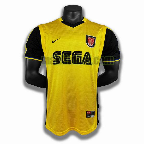 camisetas arsenal 1999 2000 segunda player amarillo