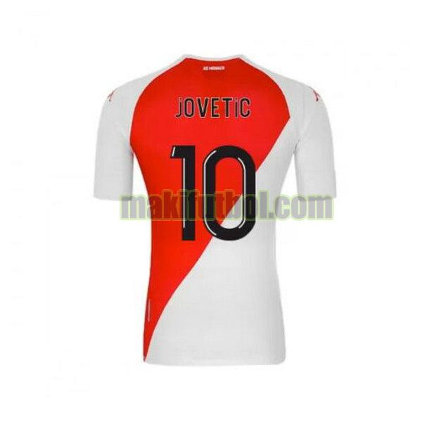 camisetas as monaco 2020-2021 primera jovetic 10