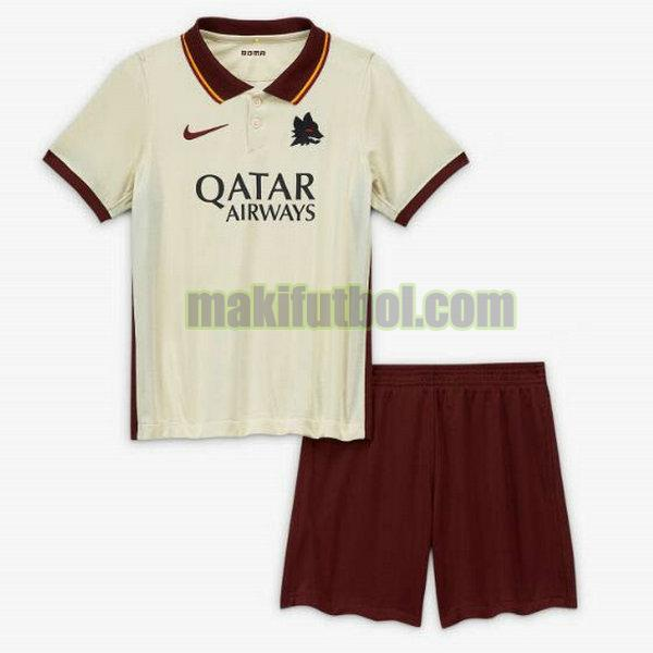 camisetas as roma niño 2020-2021 segunda