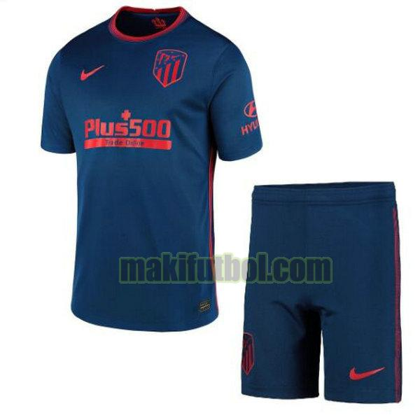 camisetas atletico madrid niño 2020-2021 segunda azul