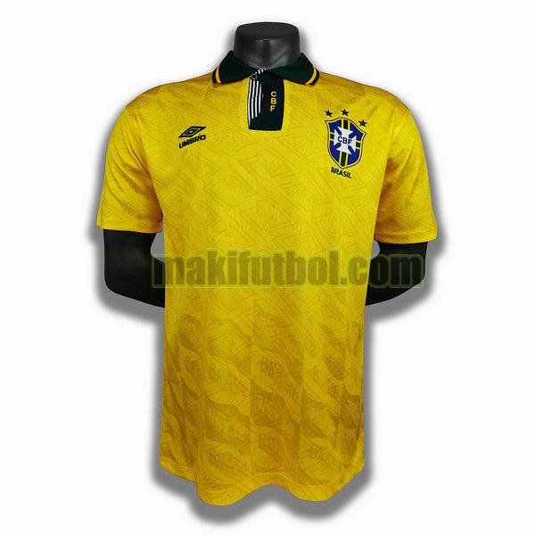 camisetas brasil 1991 1993 primera player amarillo