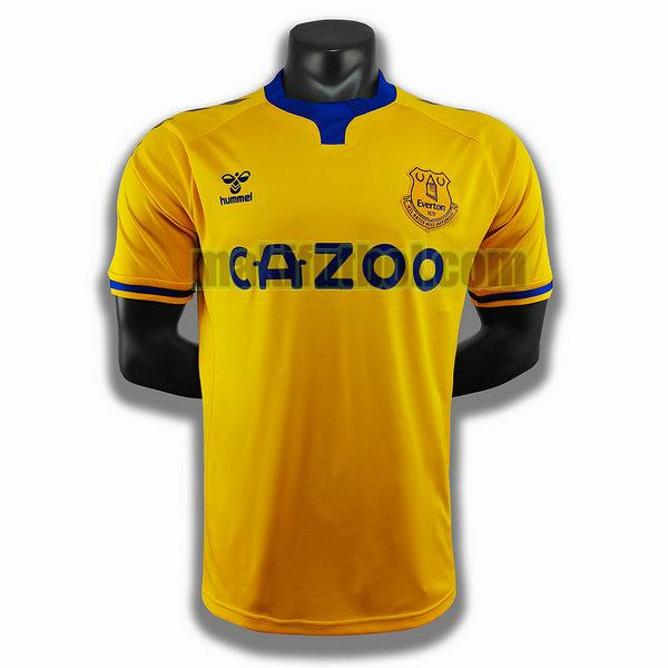 camisetas everton 2020-2021 segunda player amarillo