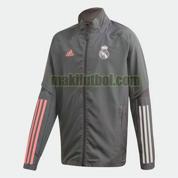 chaquetas real madrid 2020-2021 gris