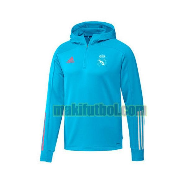 chaquets hoody real madrid 2020-21 light blue